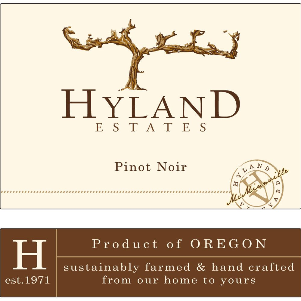 Hyland Estates Estate Old Vine Pinot Noir 2014 Front Label