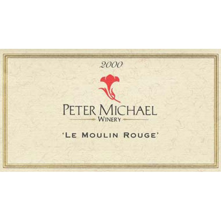 Peter Michael Le Moulin Rouge Pinot Noir 2000 Front Label