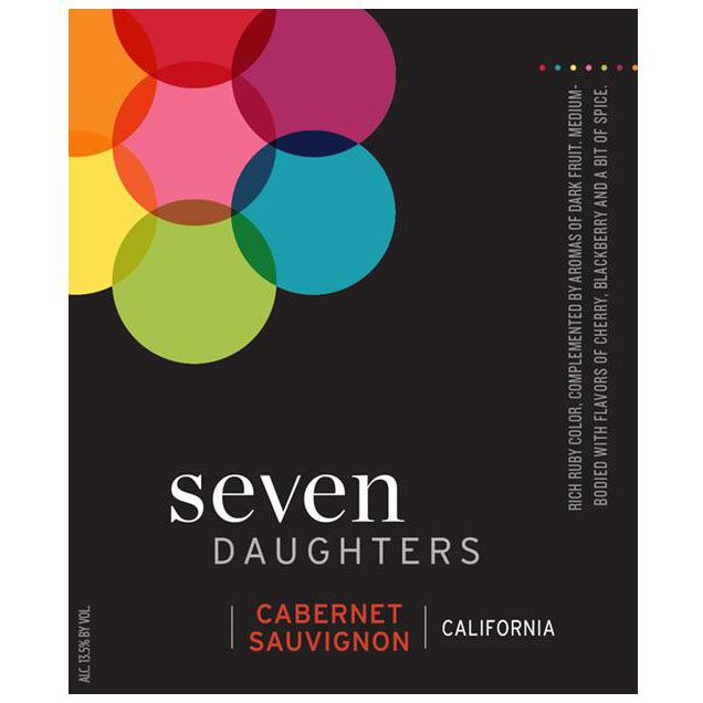 Seven Daughters Cabernet Sauvignon (375ML half-bottle)  2014 Front Label