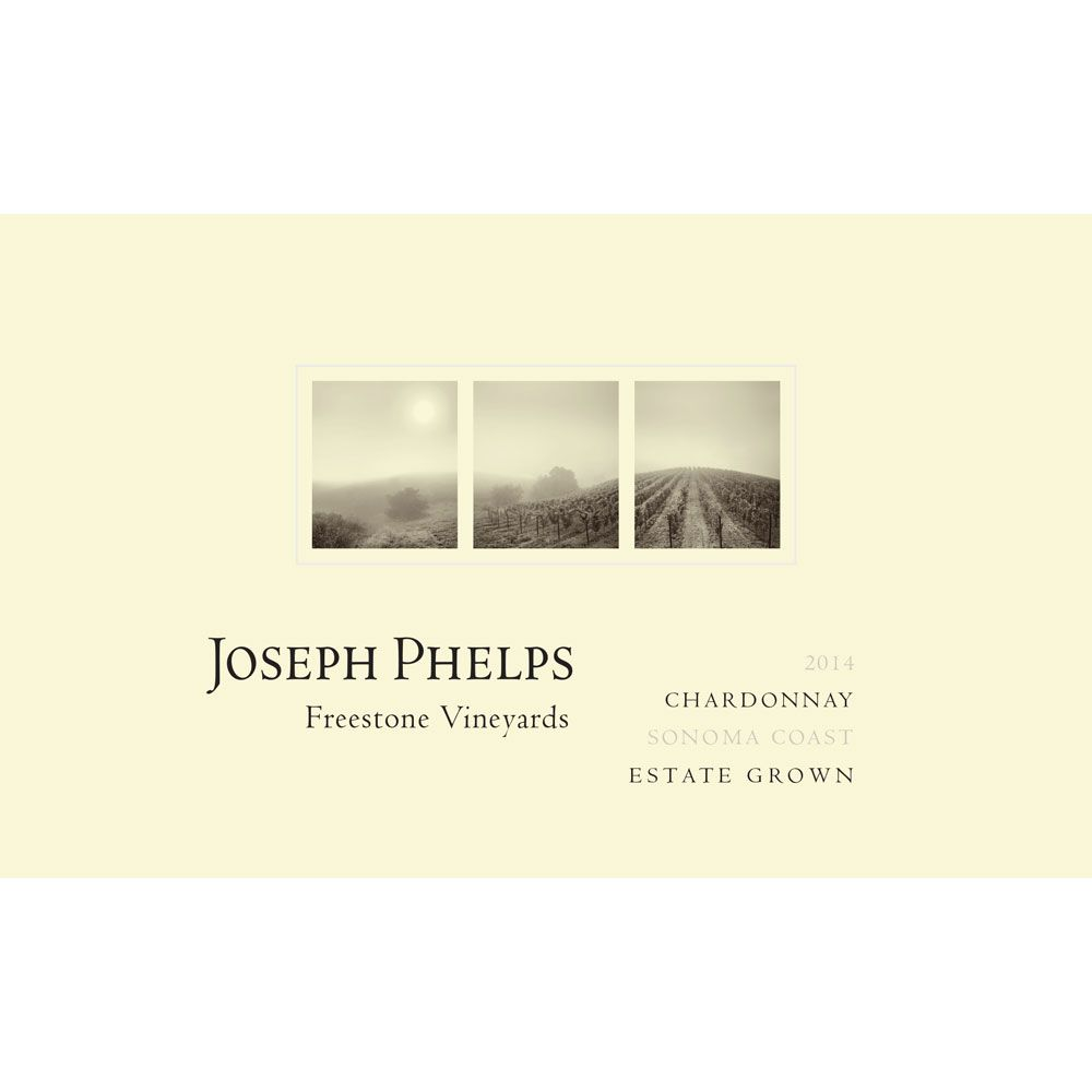 Joseph Phelps Freestone Vineyards Sonoma Coast Chardonnay 2014 Front Label