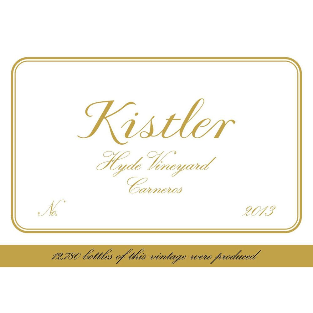 Kistler Vineyards Hyde Vineyard Chardonnay 2013 Front Label