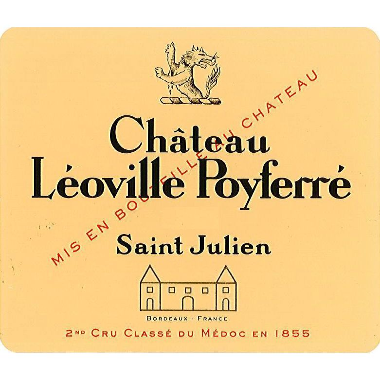 Chateau Leoville Poyferre  2015 Front Label