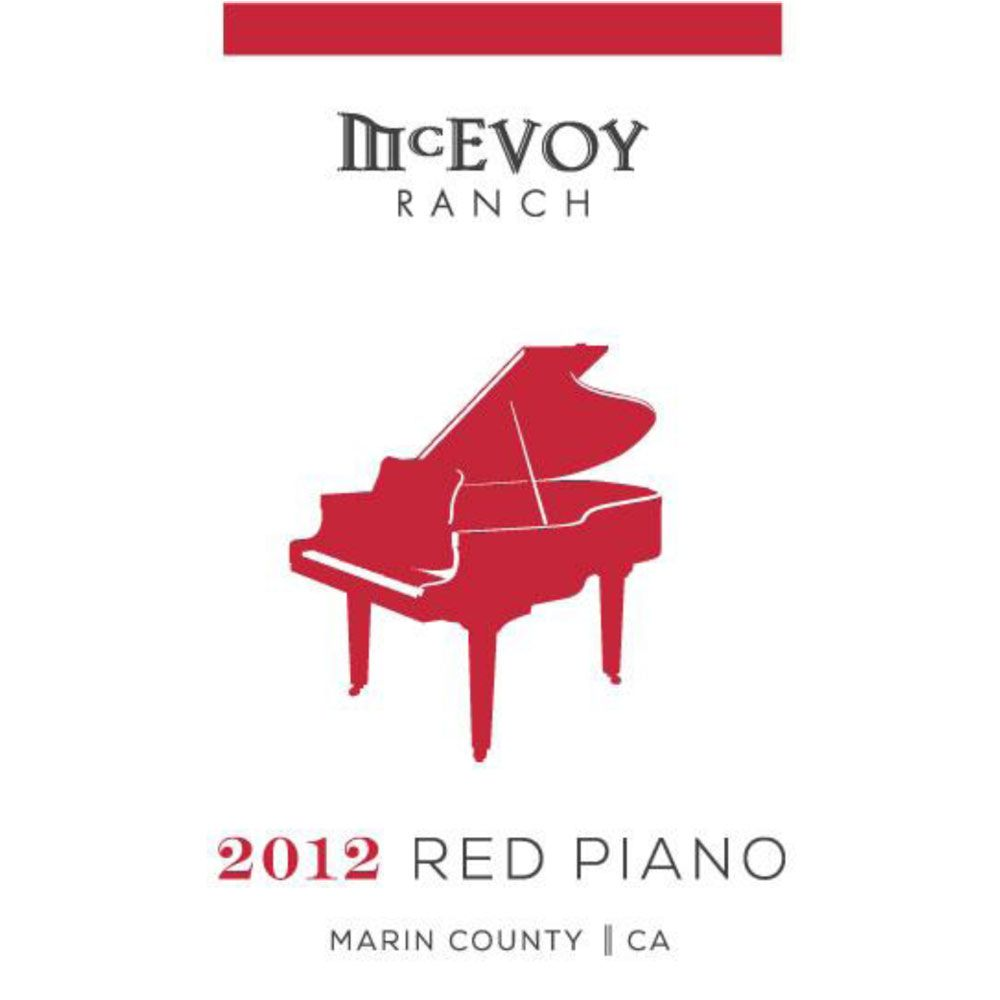 McEvoy Ranch Red Piano 2012 Front Label