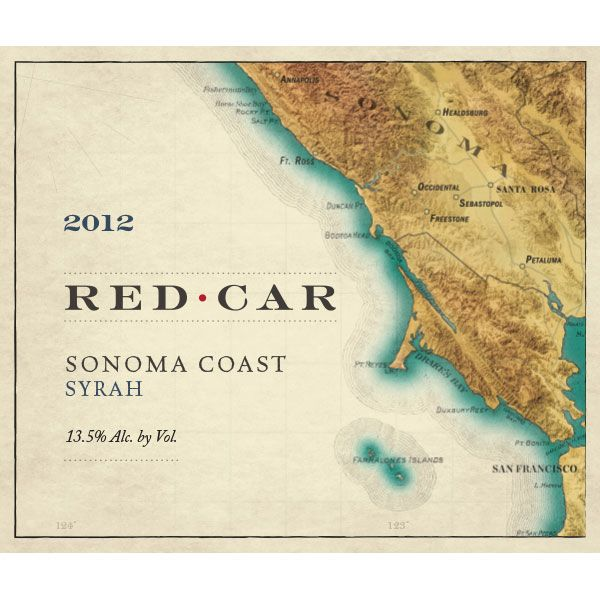 Red Car Sonoma Coast Syrah 2012 Front Label