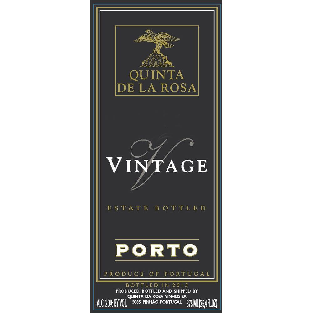 Quinta de la Rosa Vintage Port (375ML half-bottle) 2012 Front Label