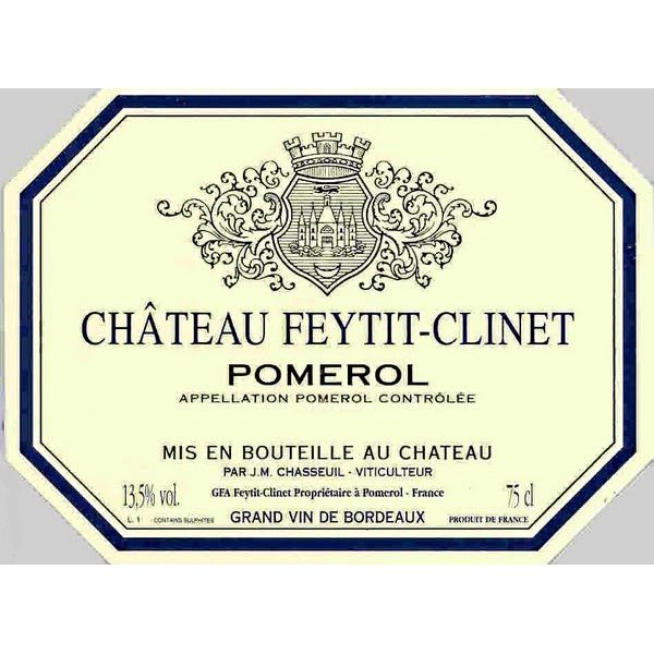 Chateau Feytit-Clinet  2015 Front Label