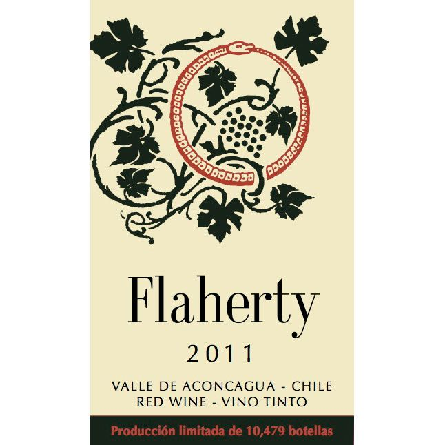 Flaherty Aconcagua Red 2011 Front Label