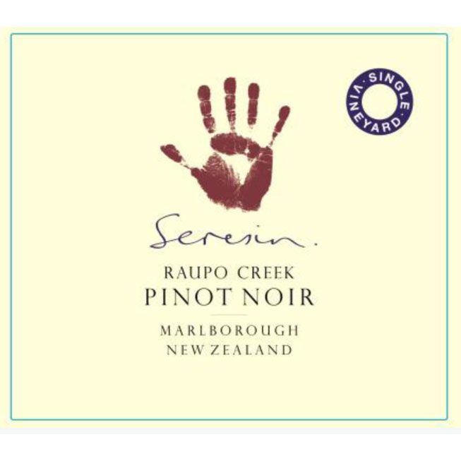 Seresin Raupo Creek Pinot Noir 2011 Front Label