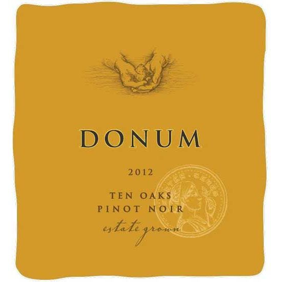 The Donum Estate Ten Oaks Russian River Valley Pinot Noir  2012 Front Label