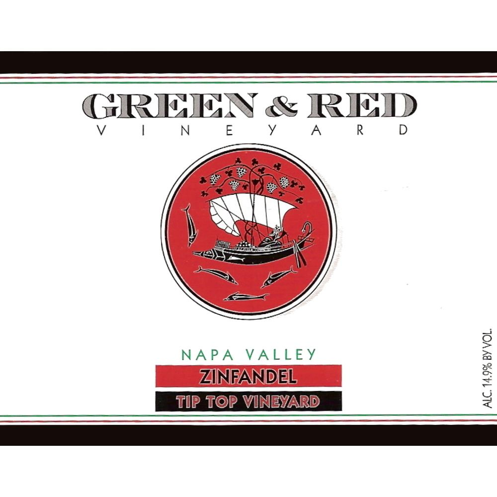 Green & Red Tip Top Vineyard Zinfandel 2013 Front Label
