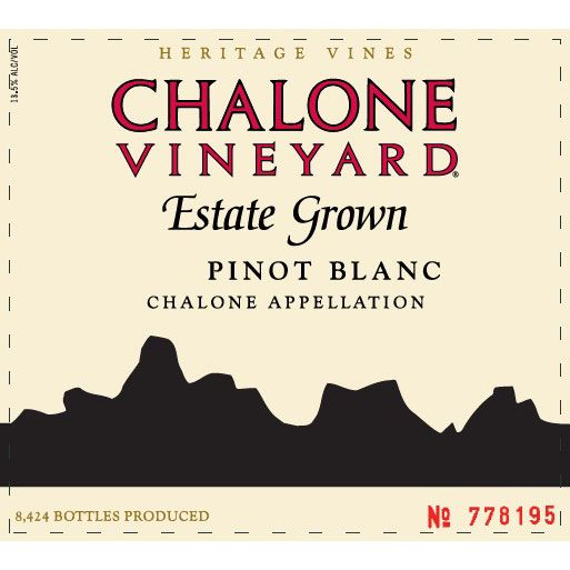 Chalone Estate Pinot Blanc 2014 Front Label