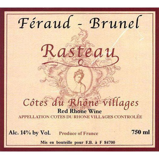 Feraud-Brunel Rasteau 2014 Front Label