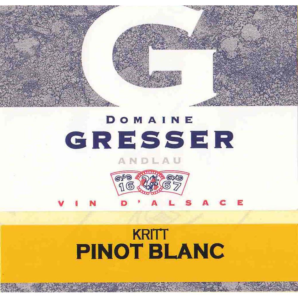 Domaine Remy Gresser Kritt Pinot Blanc 2013 Front Label