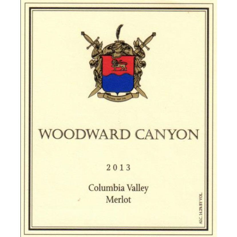 Woodward Canyon Columbia Valley Merlot 2013 Front Label