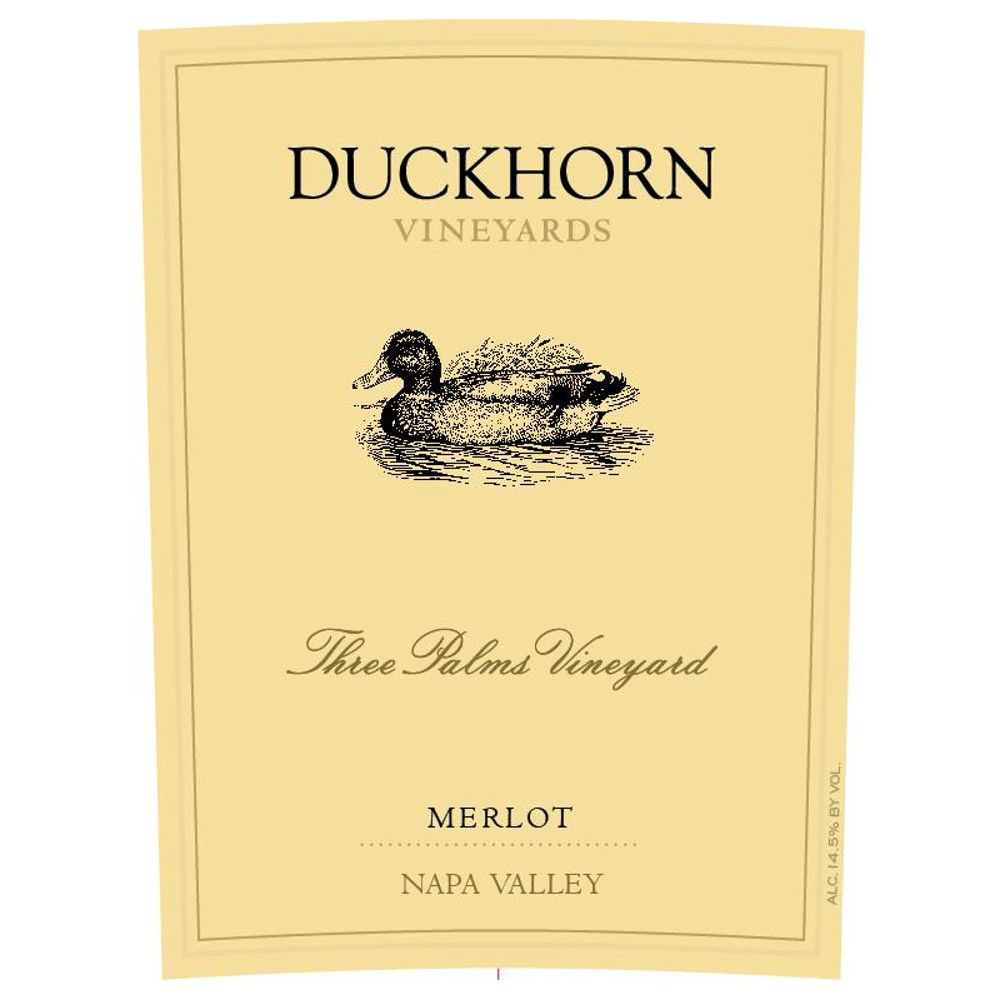 Duckhorn Three Palms Merlot (1.5 Liter Magnum) 2012 Front Label