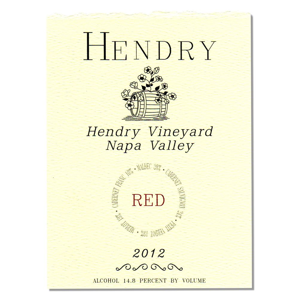 Hendry Red Wine 2012 Front Label