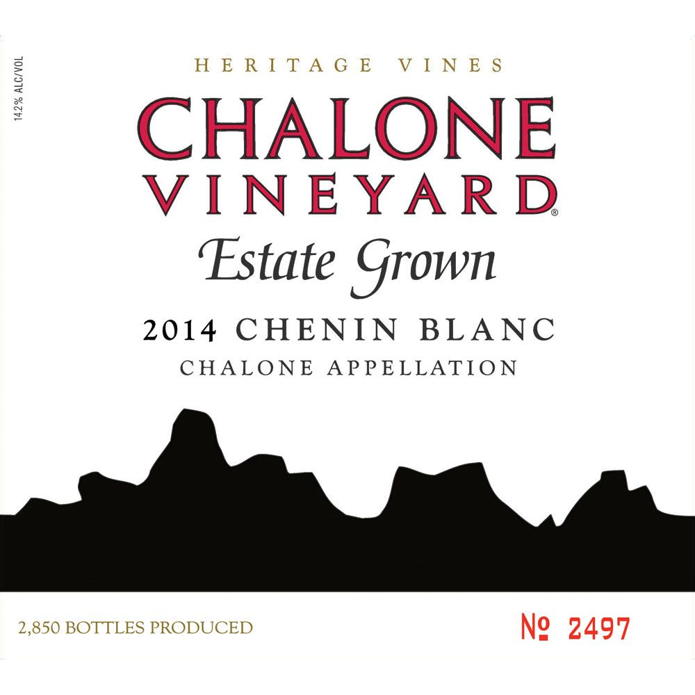 Chalone Chenin Blanc 2014 Front Label