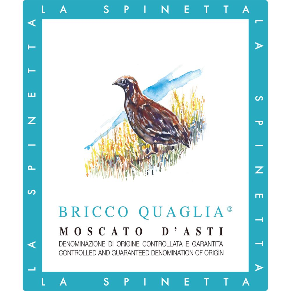 La Spinetta Bricco Quaglia Moscato d'Asti (375ML half-bottle) 2015 Front Label