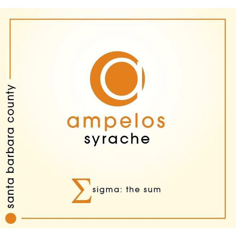 Ampelos Cellars Syrache 2012 Front Label