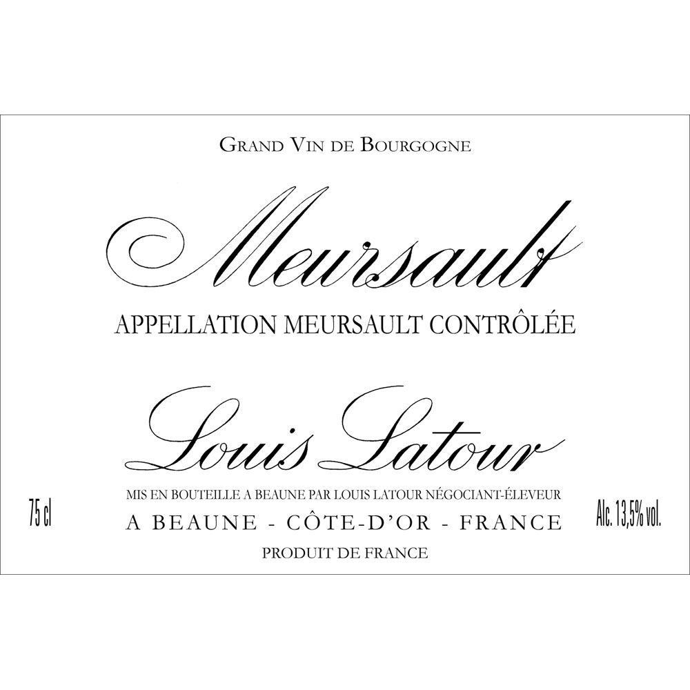 Louis Latour Meursault Blanc (375ML half-bottle) 2014 Front Label