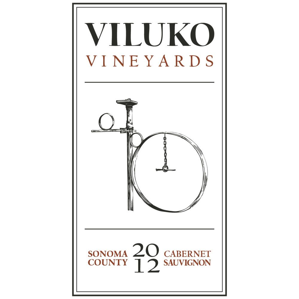 Viluko Vineyards Cabernet Sauvignon 2012 Front Label
