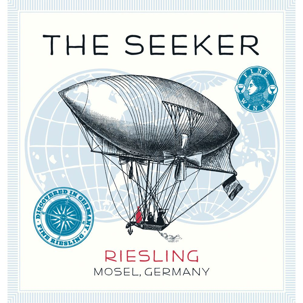 The Seeker Riesling 2014 Front Label