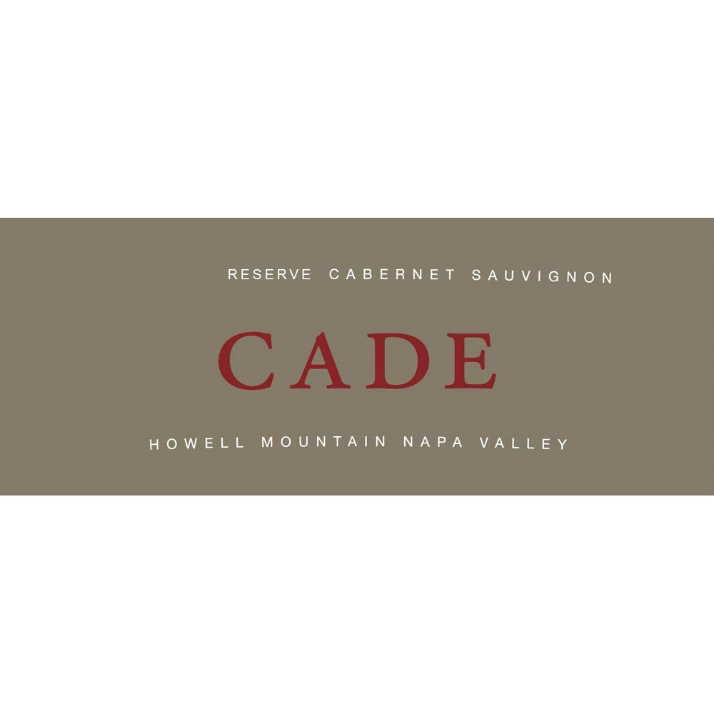 CADE Reserve Cabernet Sauvignon Howell Mountain 2013 Front Label