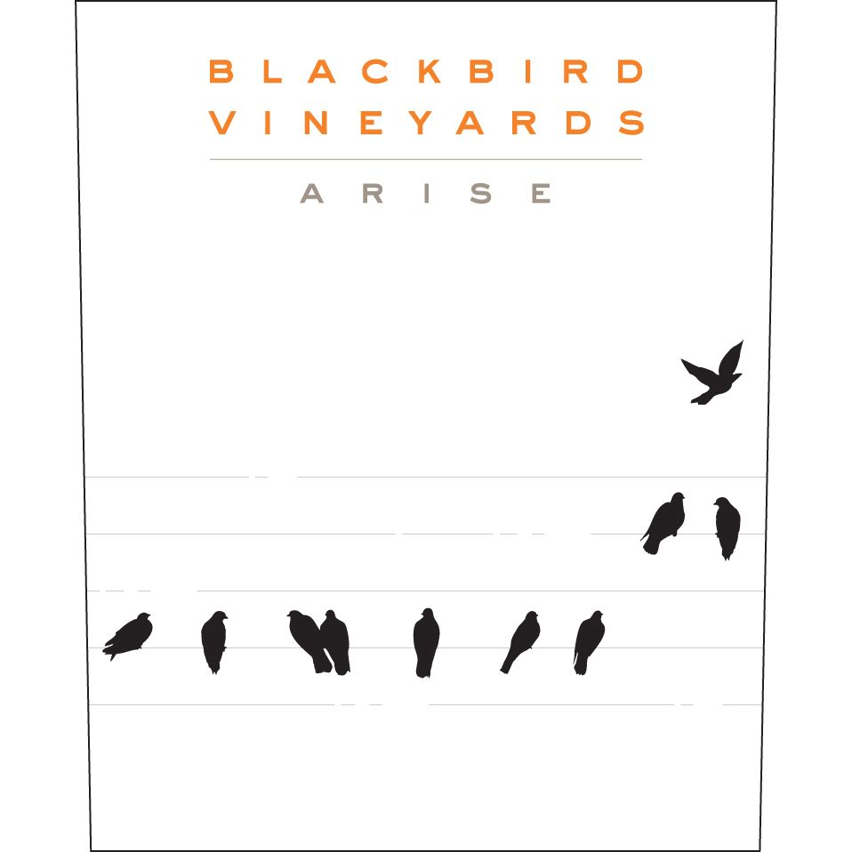 Blackbird Vineyards Arise Napa Valley Proprietary Red 2013 Front Label