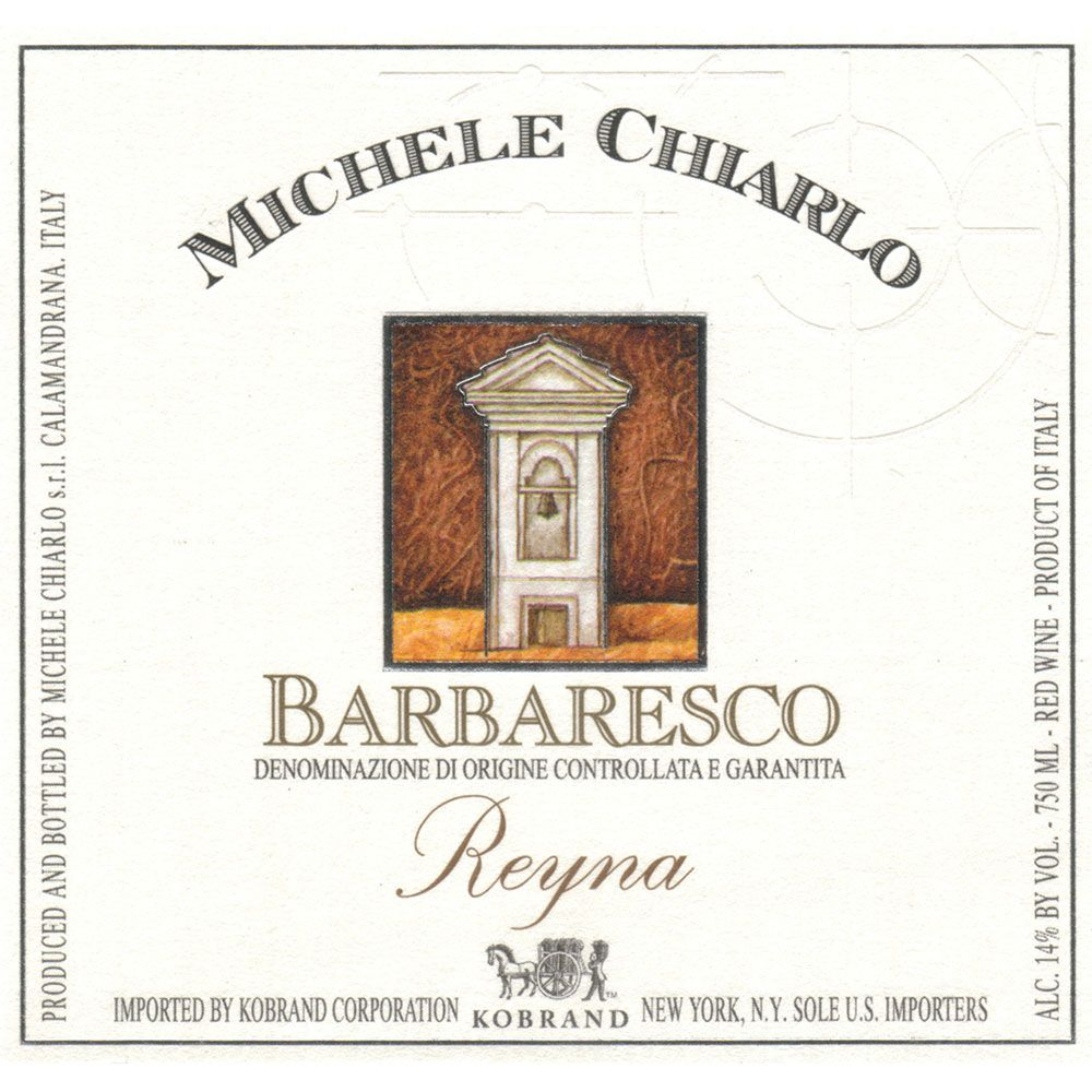 Michele Chiarlo Reyna Barbaresco 2012 Front Label