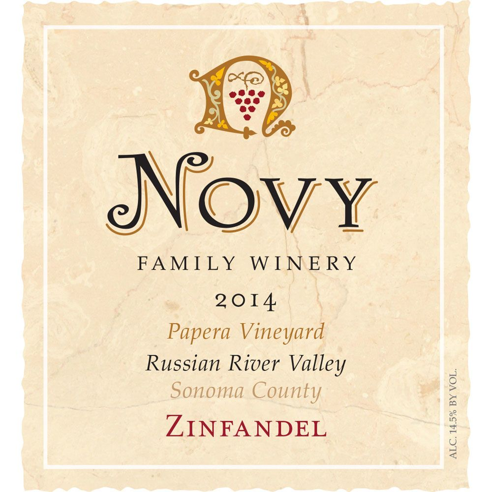 Novy Papera Vineyard Zinfandel 2014 Front Label