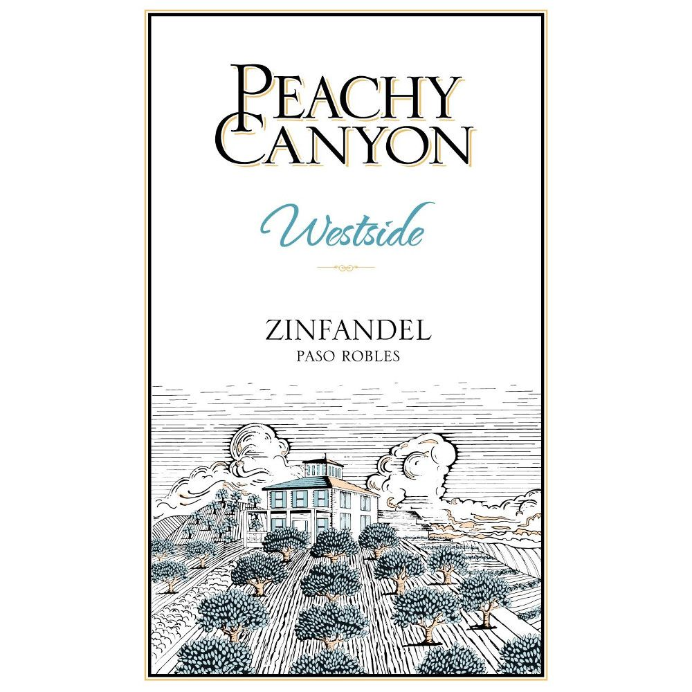 Peachy Canyon Westside Zinfandel (375ML half-bottle) 2014 Front Label