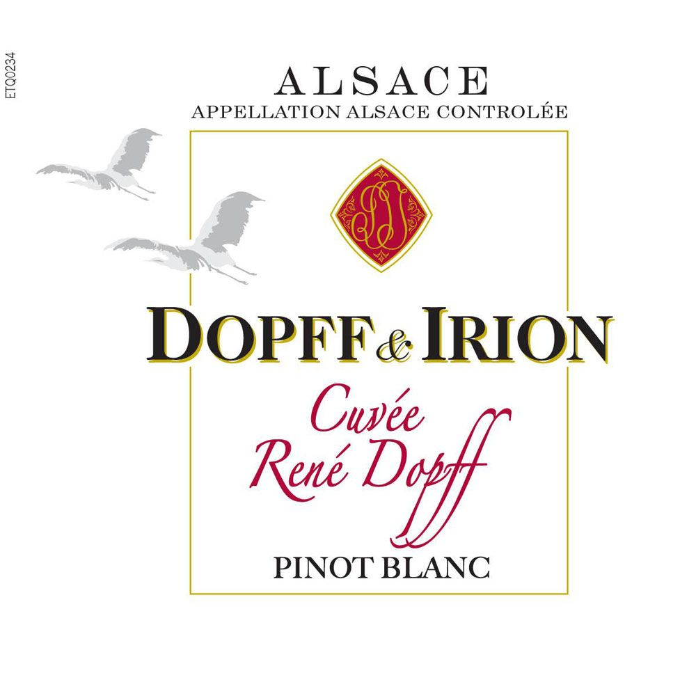 Dopff & Irion Pinot Blanc 2014 Front Label