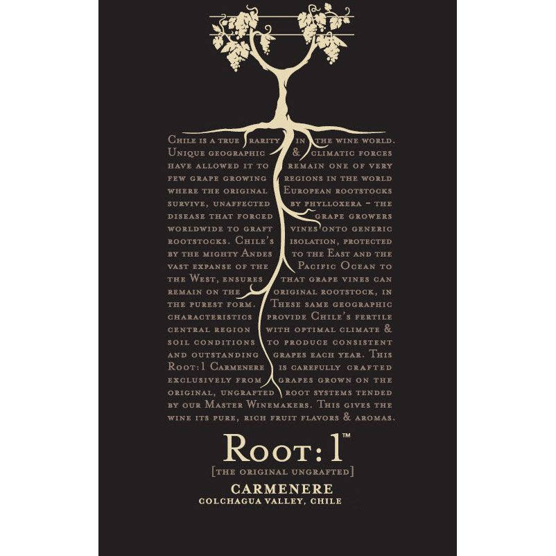 Root 1 Carmenere 2014 Front Label