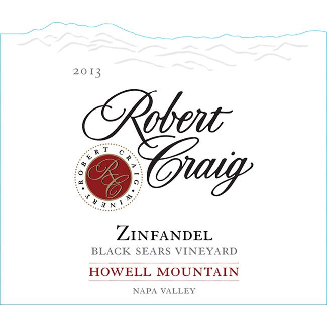 Robert Craig Cellars Black Sears Vineyard Zinfandel 2013 Front Label