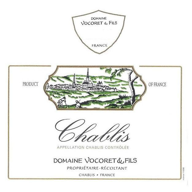 Vocoret Chablis (375ML half-bottle) 2014 Front Label