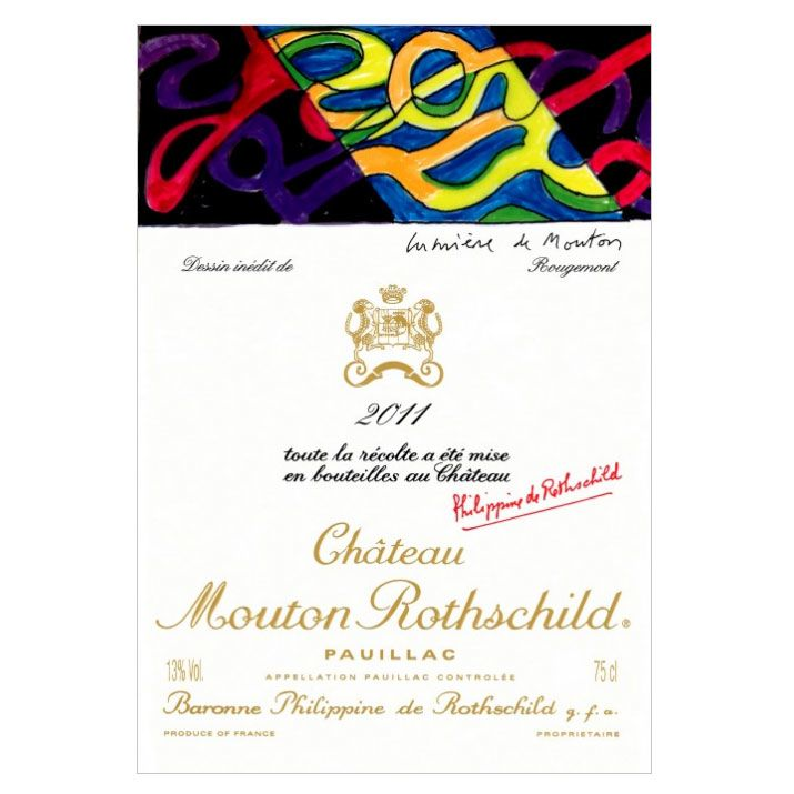 Chateau Mouton Rothschild (1.5 Liter Magnum) 2011 Front Label