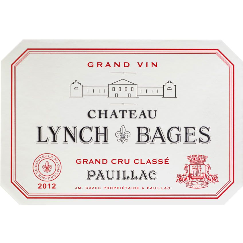 Chateau Lynch-Bages  2012 Front Label