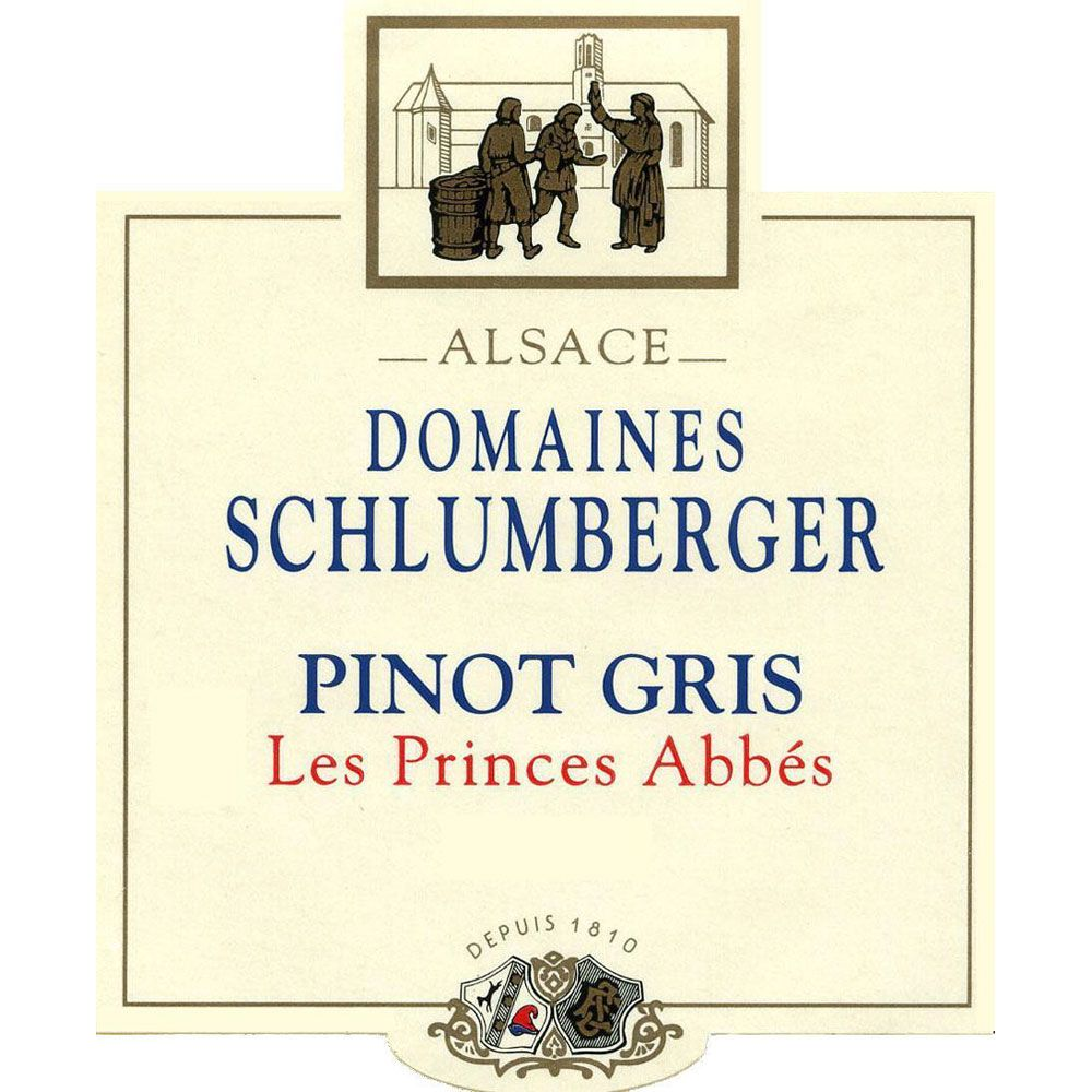 Domaines Schlumberger Les Princes Abbes Pinot Gris 2014 Front Label