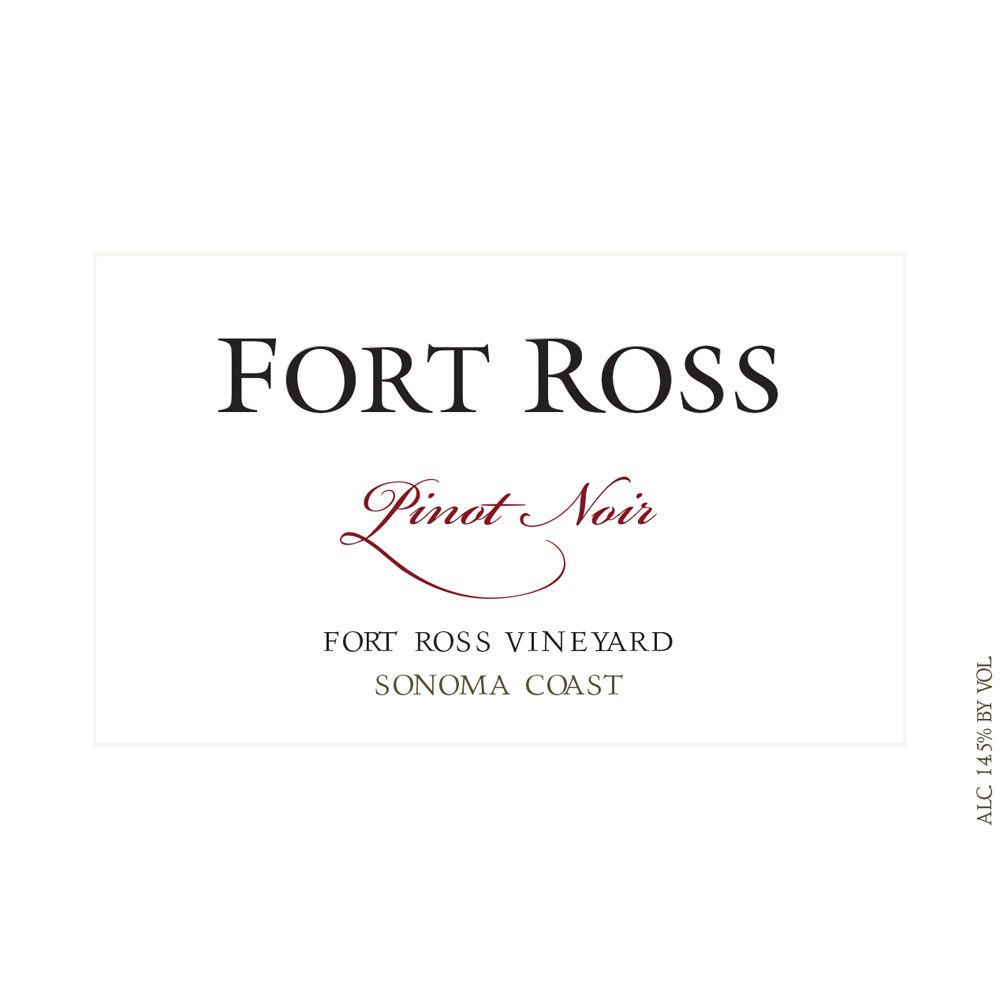 Fort Ross Vineyard Sonoma Coast Pinot Noir (375ML half-bottle) 2012 Front Label