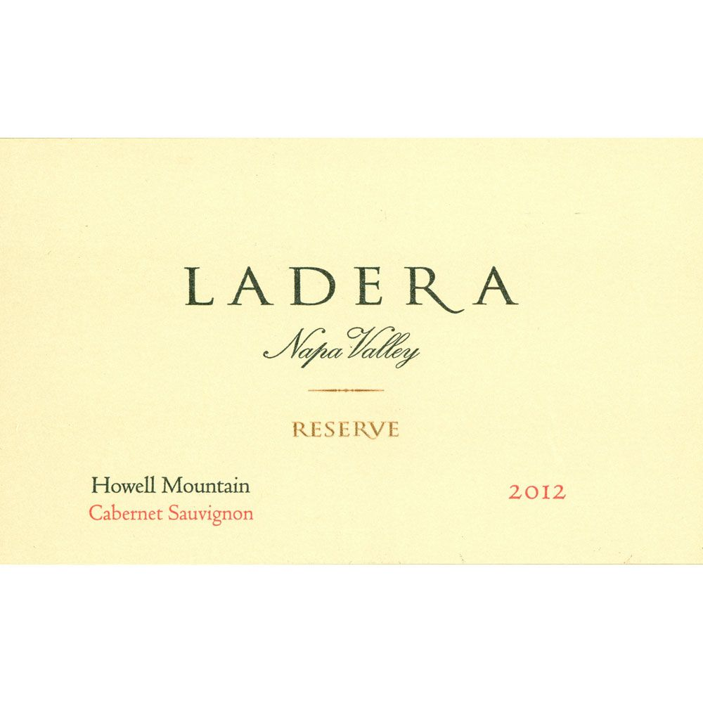 Ladera Howell Mountain Reserve Cabernet Sauvignon (375ML half-bottle) 2012 Front Label