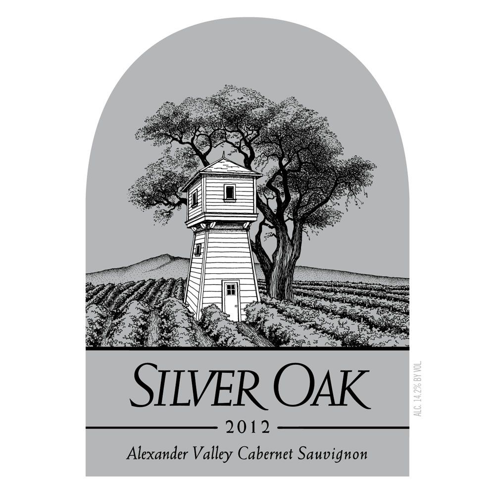 Silver Oak Alexander Valley Cabernet Sauvignon (3 Liter Bottle) 2012 Front Label