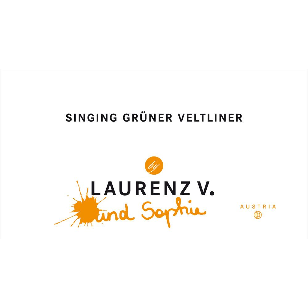 Laurenz V Singing Gruner Veltliner 2015 Front Label