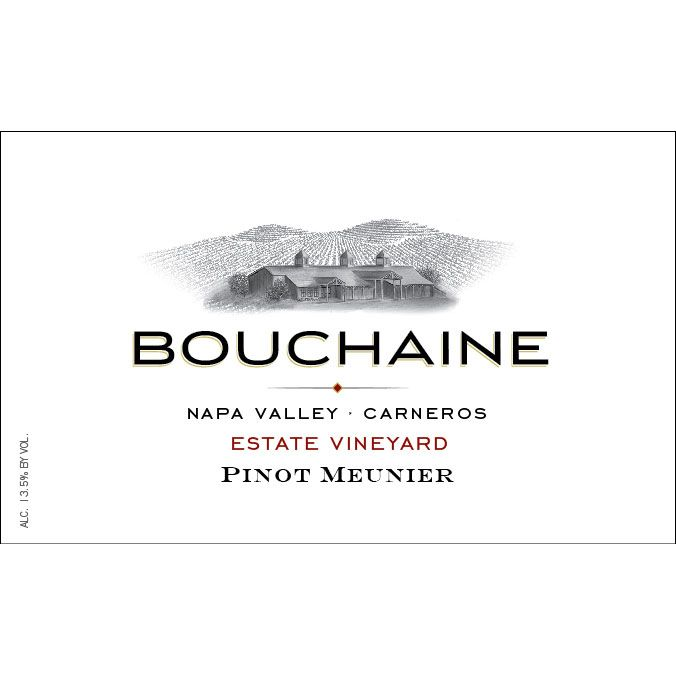 Bouchaine Pinot Meunier 2013 Front Label