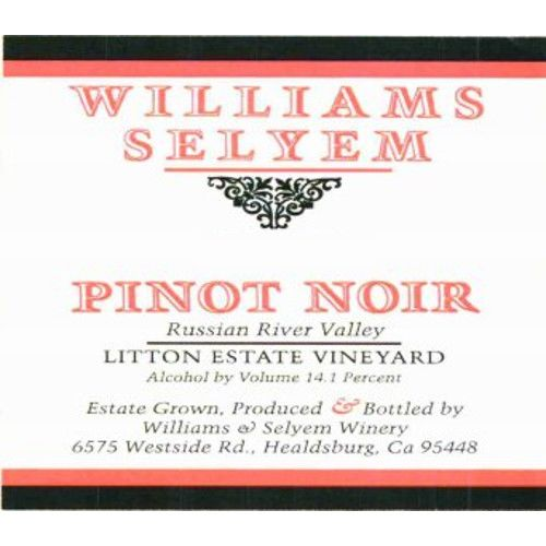 Williams Selyem Litton Estate Vineyard Pinot Noir 2007 Front Label