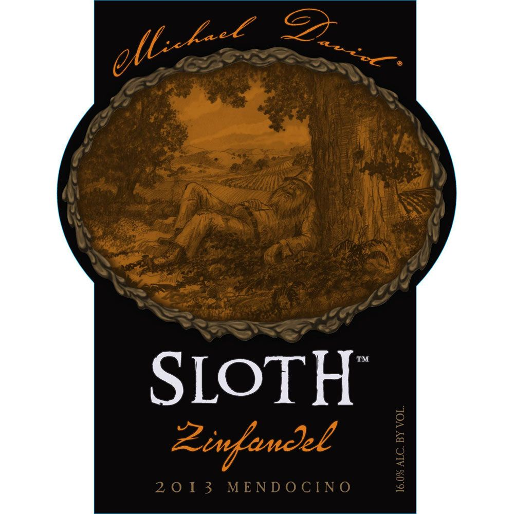 Michael David Winery Sloth Zinfandel 2013 Front Label