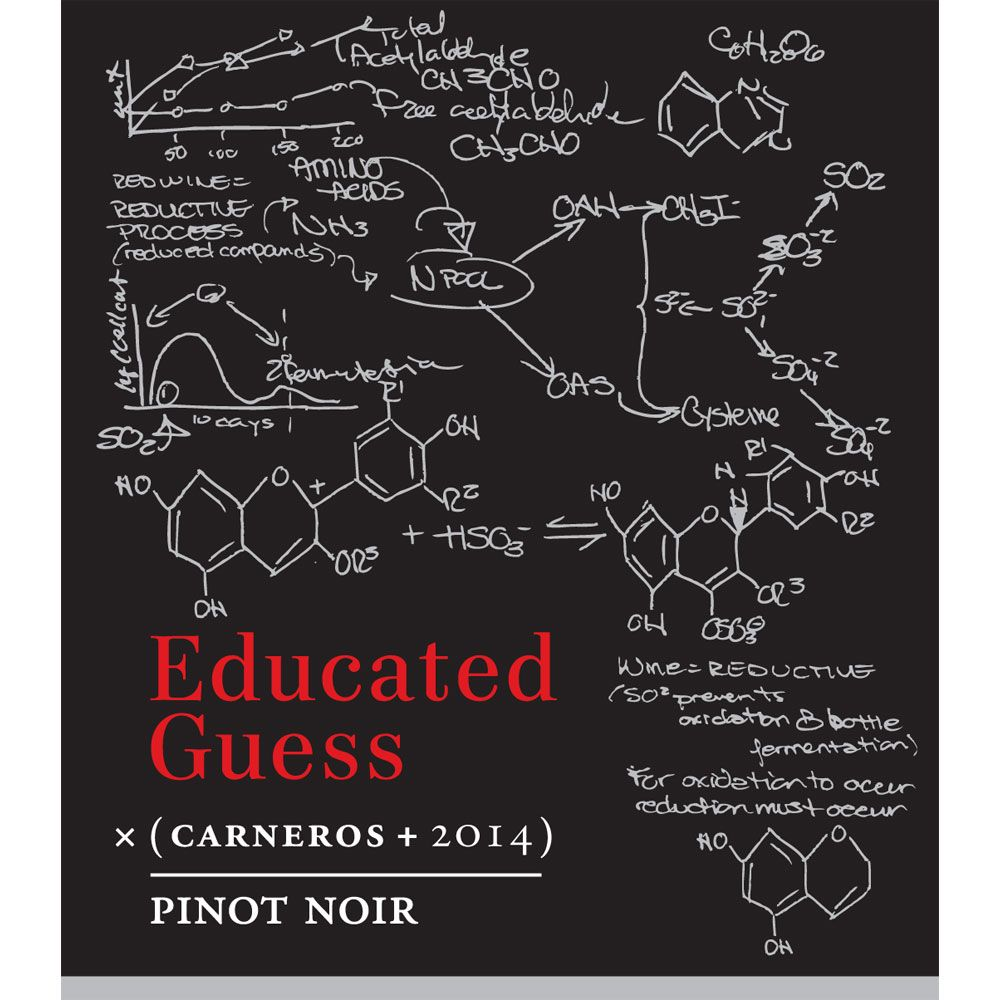 Roots Run Deep Educated Guess Pinot Noir 2014 Front Label