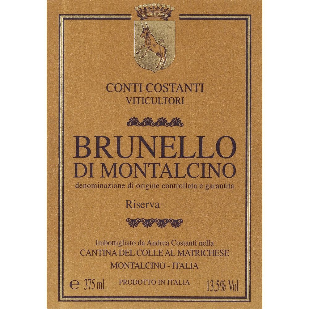 Conti Costanti Brunello di Montalcino Risvera (3 Liter Bottle) 2010 Front Label