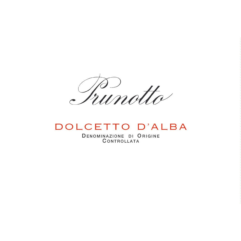 Prunotto Dolcetto d'Alba 2012 Front Label
