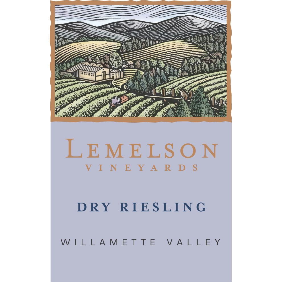 Lemelson Dry Riesling 2014 Front Label