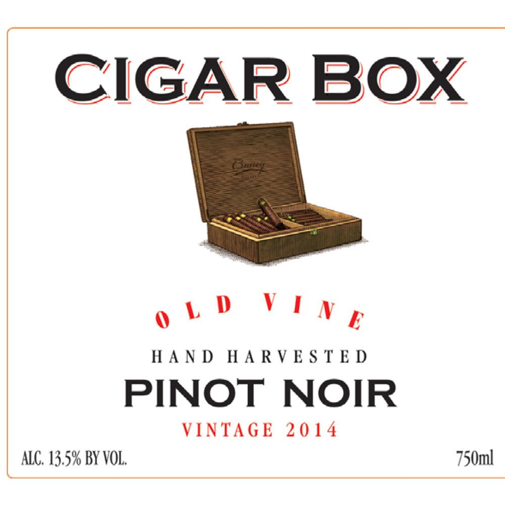 Cigar Box Old Vine Pinot Noir 2015 Front Label